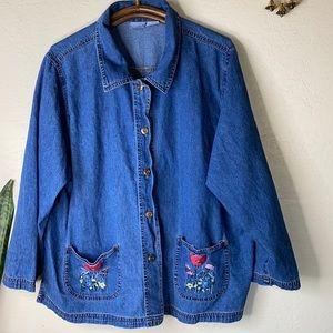 2XL Jean shirt jacket